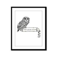 Hoot Owl Framed Panel Print
