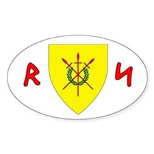 Red Spears Arms Oval Decal