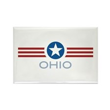 Star Stripes Ohio Rectangle Magnet