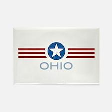 Star Stripes Ohio Rectangle Magnet