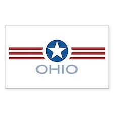 Star Stripes Ohio Rectangle Decal