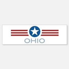 Star Stripes Ohio Bumper Bumper Bumper Sticker