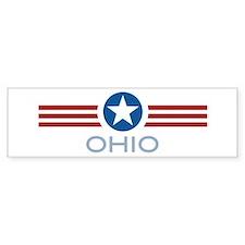 Star Stripes Ohio Bumper Bumper Sticker