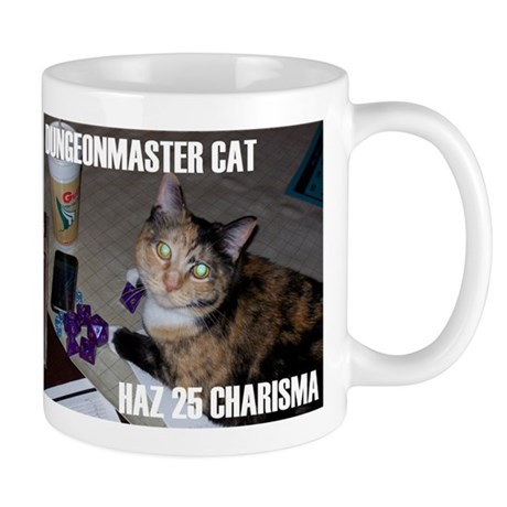 Dungeonmaster Cat Mug