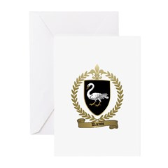 DAROIS Family Crest Greeting Cards (Pk of 10)