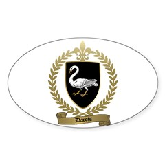 DAROIS Family Crest Oval Decal