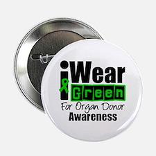 """I Wear Green ODA v3 2.25"""" Button"""