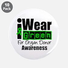 "I Wear Green ODA v3 3.5"" Button (10 pack)"
