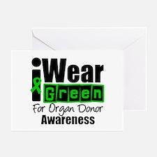 I Wear Green ODA v3 Greeting Cards (Pk of 10)