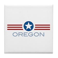 Star Stripes Oregon Tile Coaster