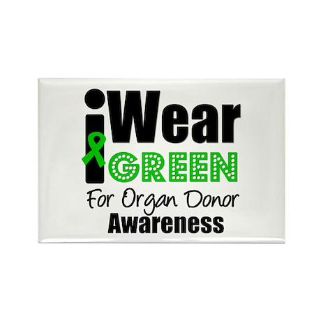 I Wear Green ODA v5 Rectangle Magnet
