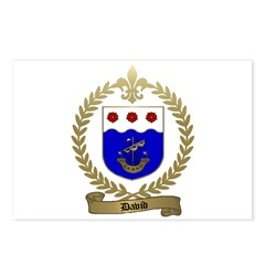 DAVID Family Crest Postcards (Package of 8)