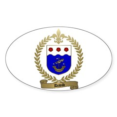 DAVID Family Crest Oval Decal