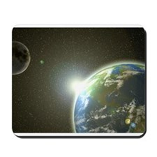 Earth and Moon Mousepad