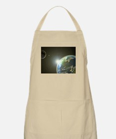 Earth and Moon BBQ Apron