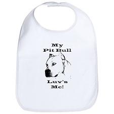 Pit Bull Luv Bib for Babies