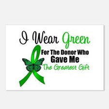 I Wear Green Gift of Life Postcards (Package of 8)