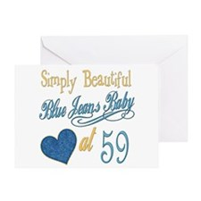Blue Jeans 59th Greeting Card