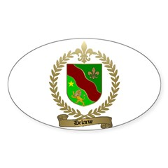 DELARUE Family Crest Oval Decal