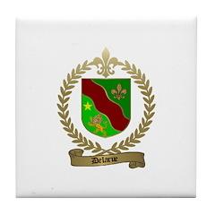 DELARUE Family Crest Tile Coaster