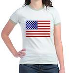 Stars and stripes Jr. Ringer T-Shirt