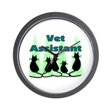 Cute Veterinary assistant Wall Clock