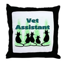 Cute Vet assistant Throw Pillow