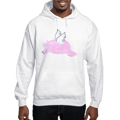 Flying Pig Hooded Sweatshirt