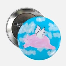 "Flying Pig 2.25"" Button"