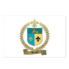 BELOU Family Crest Postcards (Package of 8)