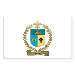 BELOU Family Crest Rectangle Decal
