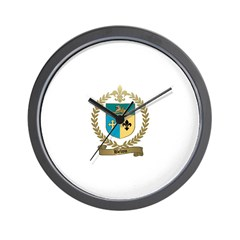BELOU Family Crest Wall Clock