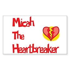 Micah the Heartbreaker Rectangle Decal