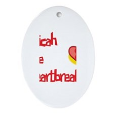 Micah the Heartbreaker Oval Ornament