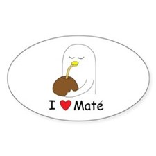 I love mate Oval Decal