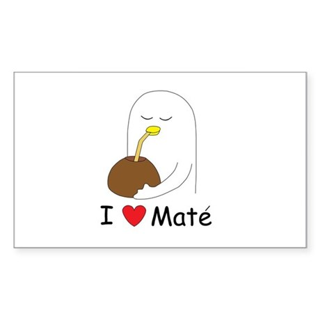 I love mate Rectangle Sticker