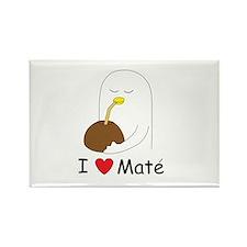 I love mate Rectangle Magnet