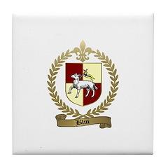 BLIN Family Crest Tile Coaster