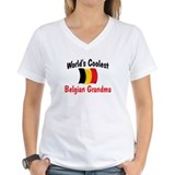 Belgian grandma Womens V-Neck T-shirts