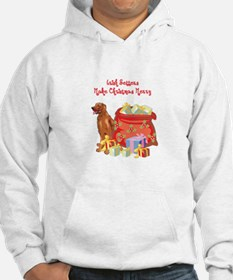 Merry Christmas Irish Setter Hoodie