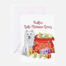 Merry Christmas Husky Greeting Card