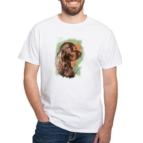 field spaniel portrait White T-Shirt