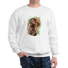 field spaniel portrait Sweatshirt