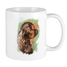 field spaniel portrait Small Mug