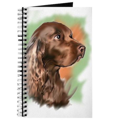 field spaniel portrait Journal