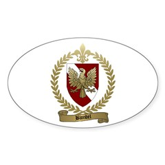 BLONDEL Family Crest Oval Decal