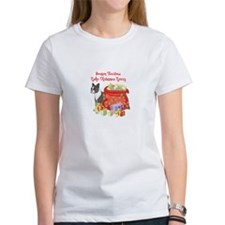 Merry Christmas Boston Terrier Tee
