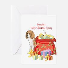 Merry Christmas Beagle Greeting Card