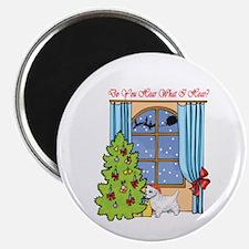 Westie Christmas Magnet
