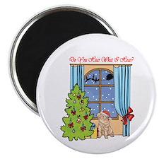 Shar Pei Christmas Magnet